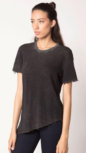 Feel the Piece Jeanie Top in Black Velvet