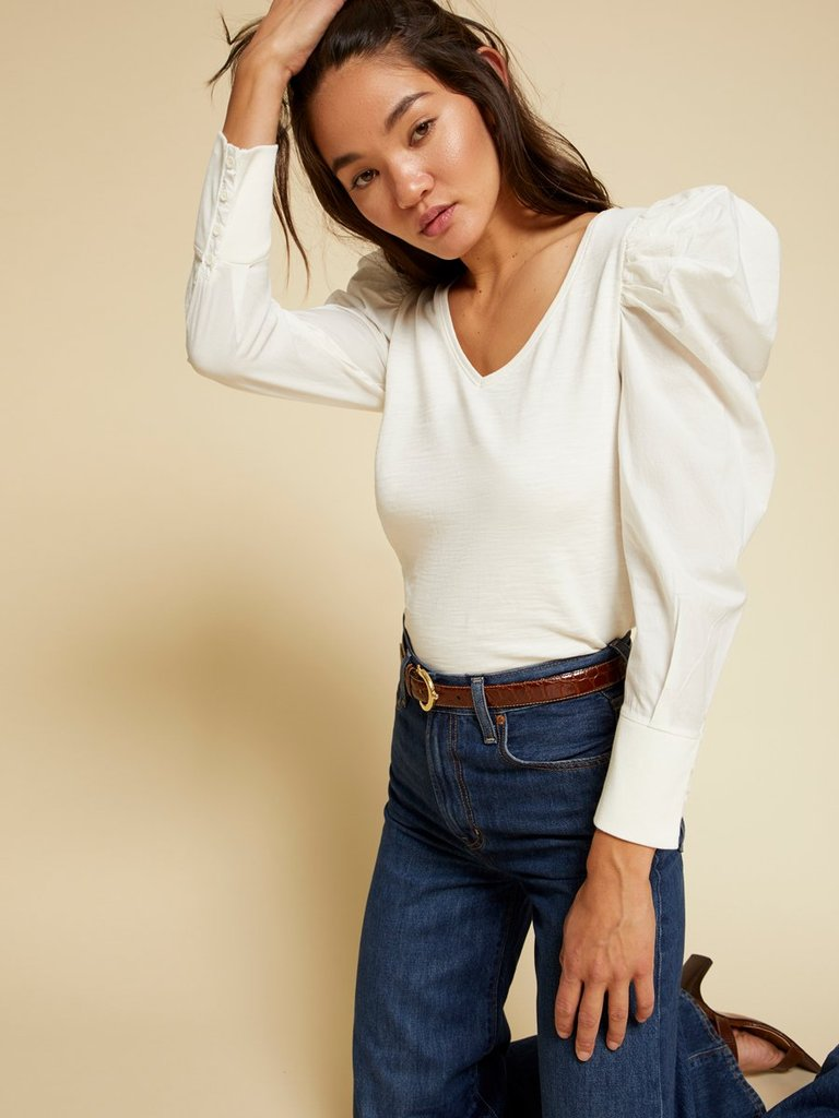 Nation Jenna Long Sleeve Puff Sleeve Top