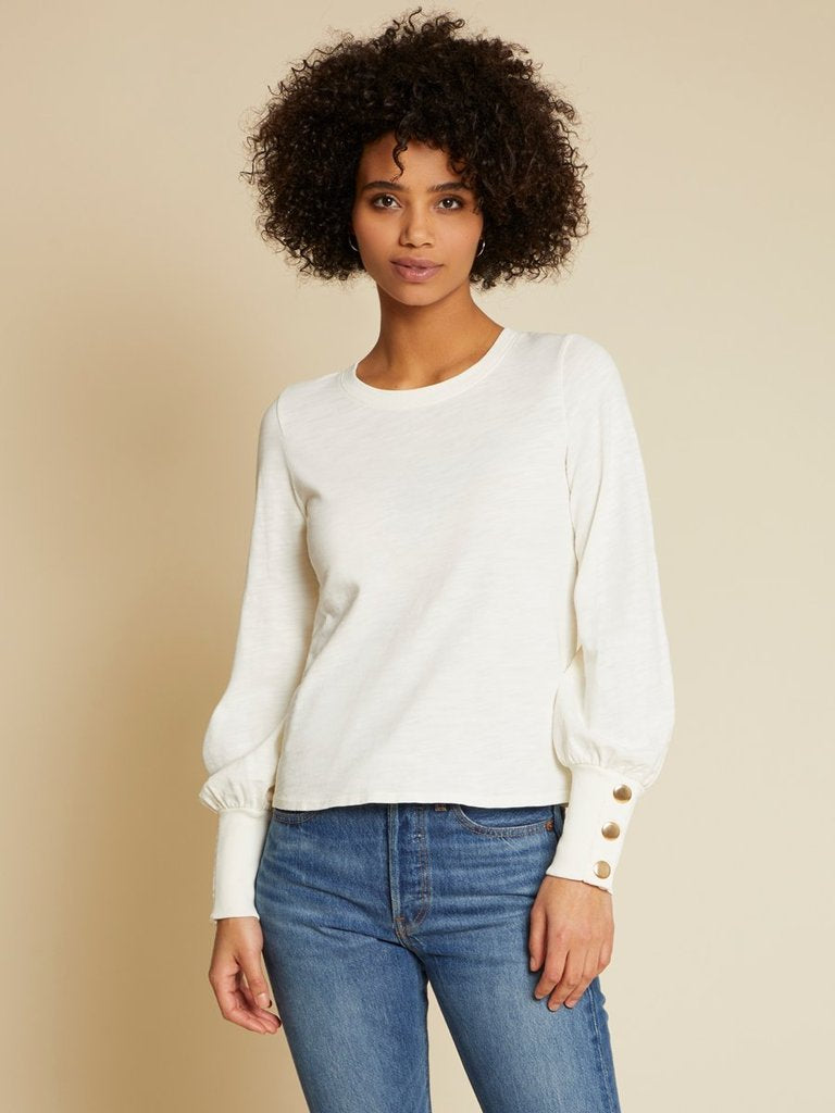 Nation Johnnie Top in Ivory