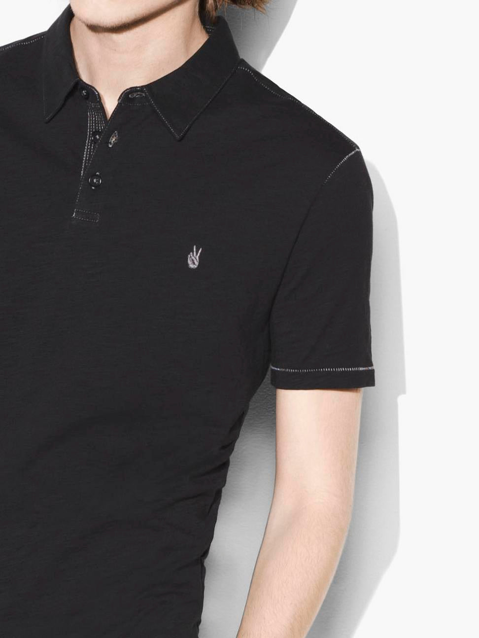 John Varvatos Peace Polo in Black