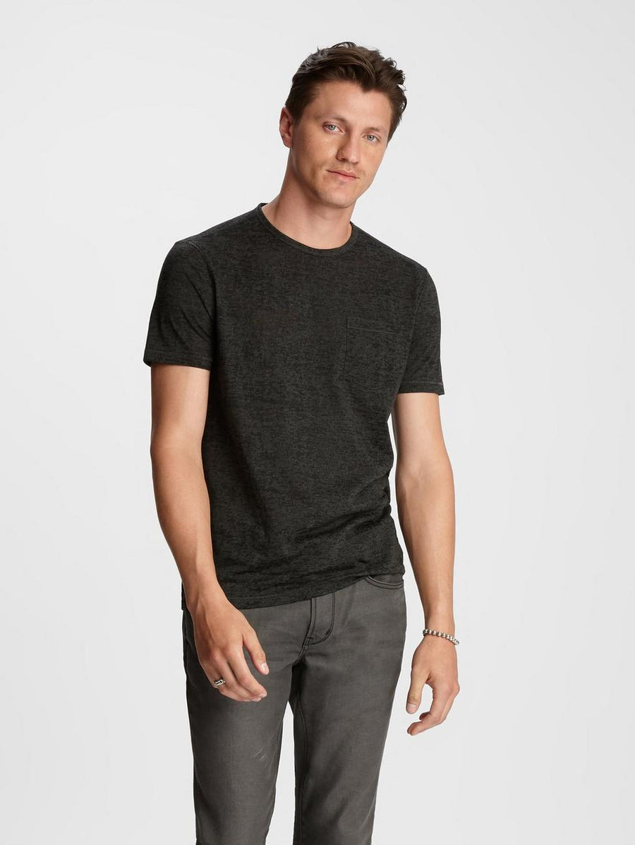 John Varvatos Short Sleeve Burnout Crew Neck
