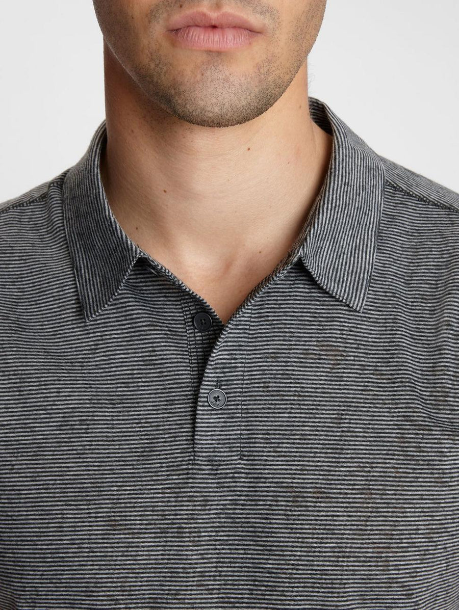 John Varvatos Burnout Stripe Polo