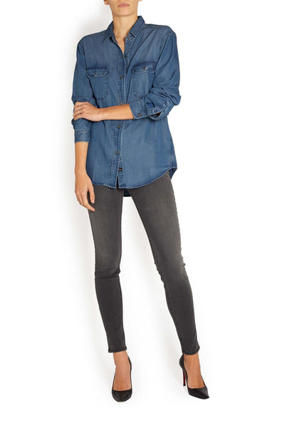 Rails Kendall Button Down Top in Dark Vintage - Estilo Boutique