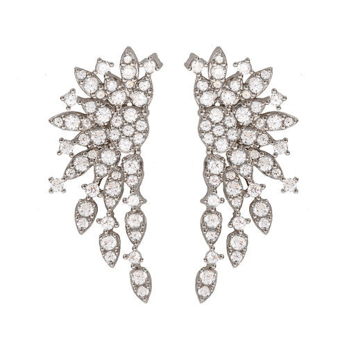 Jen Hansen Large Cluster Earring in Oxidized Silver