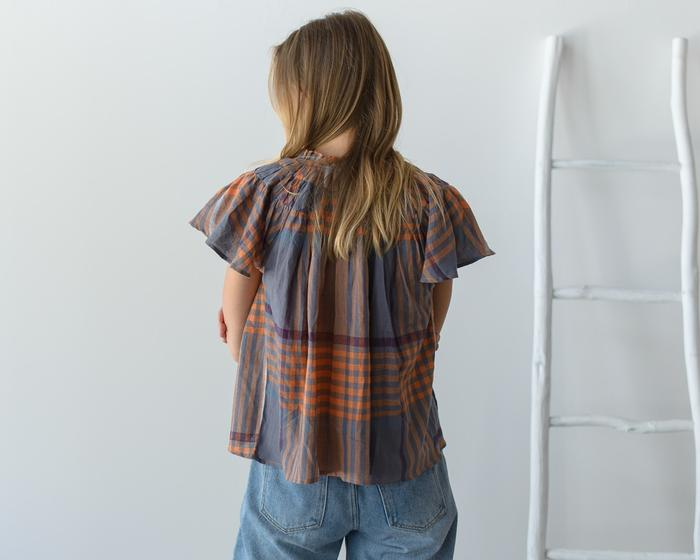 dRA Cedro Top in Apricot Plaid