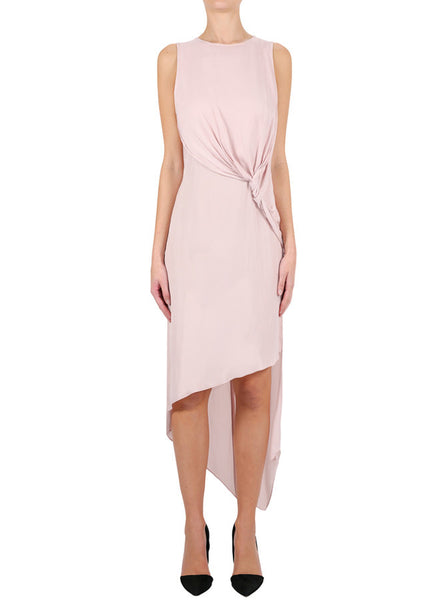 Luxe Deluxe Look Twice Knot Dress in Blush