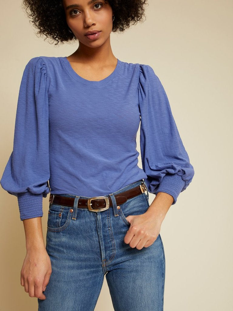 Nation Loren Top in Periwinkle