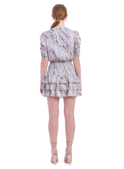 Amanda Uprichard Tabby Dress in Marble