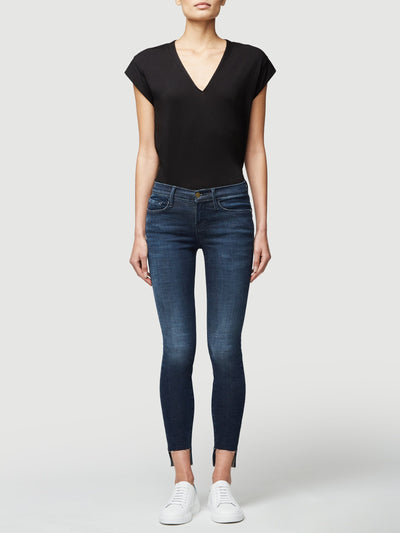 Frame Le Mid Rise V Neck Top