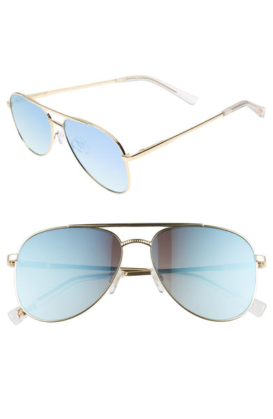 Le Specs Kingdom Sunglasses in Bright Gold