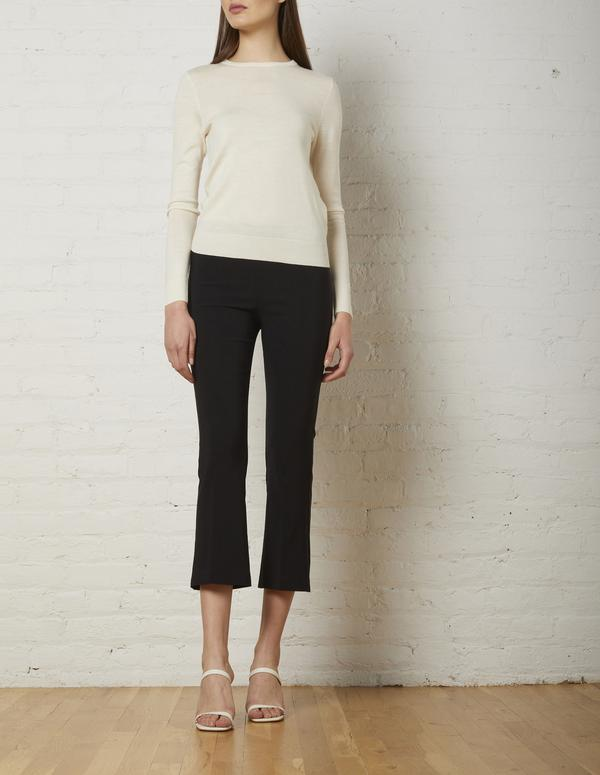 Avenue Montaigne Leo Cropped Pants in Black