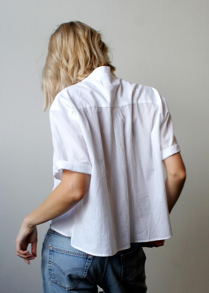 Cali Dreaming Louella Shirt in White