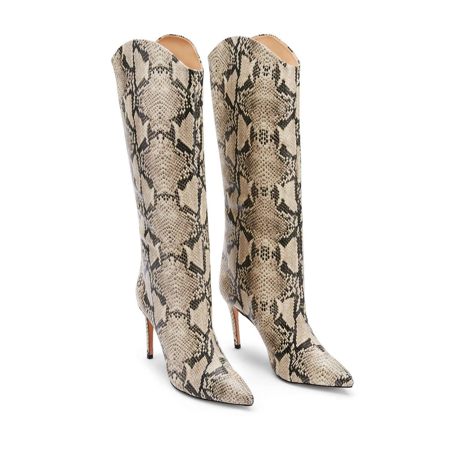 Schutz Maryanna Boot in Natural Snake Skin