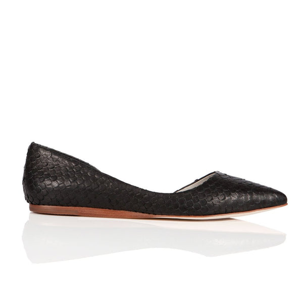 Matt Bernson Crocodile Flat - Black - Estilo Boutique