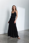 Karina Grimaldi Solid Maxi in Black