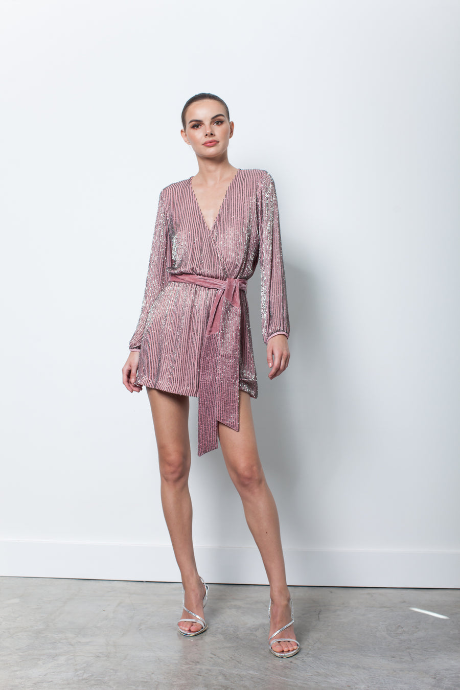 Karina Grimaldi Garda Beaded Dress