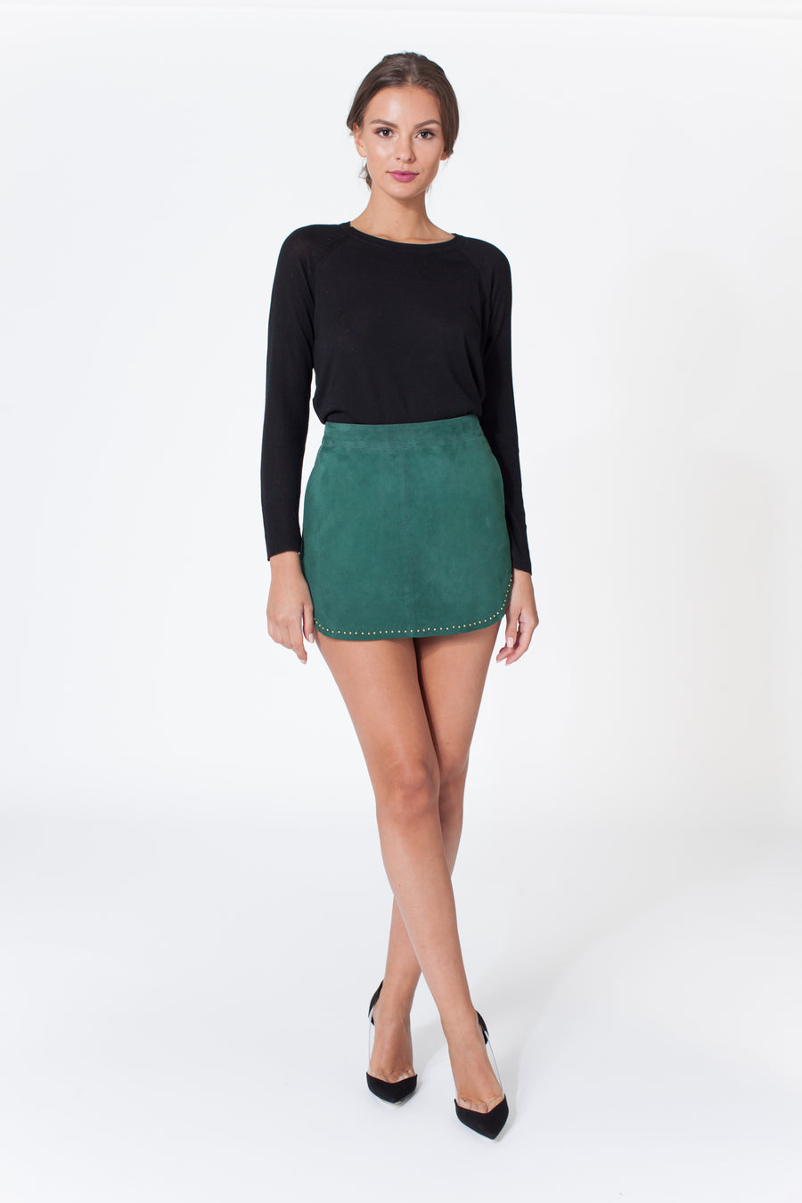 Karina Grimaldi Simon Mini Stud Skirt