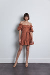 Karina Grimaldi Martha Linen Dress in Sand