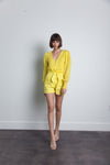 Karina Grimaldi Stella Shorts in Yellow Cloud