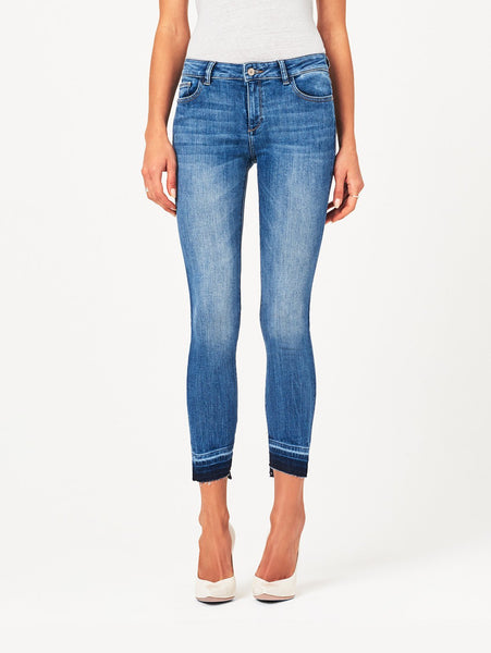 DL1961 Margaux Mid Rise Ankle Skinny in Costa Mesa