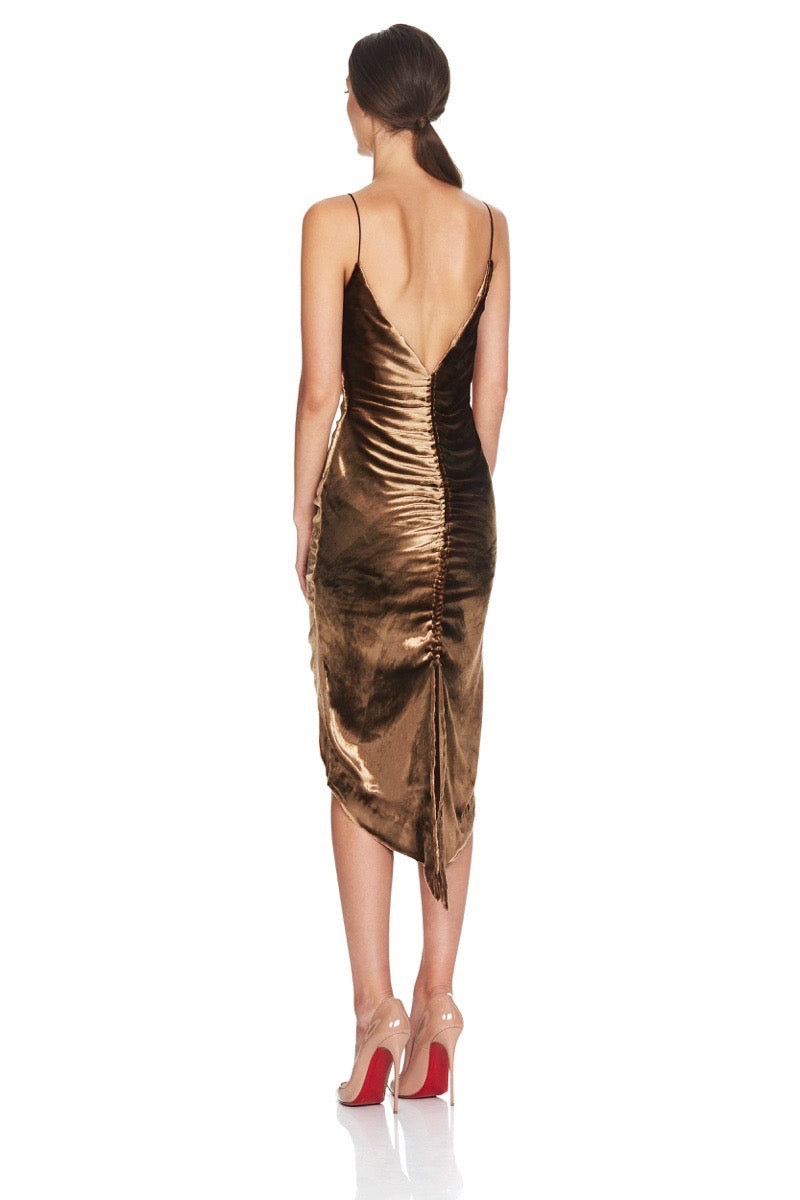 Misha Collections Mimi Dress in Gold