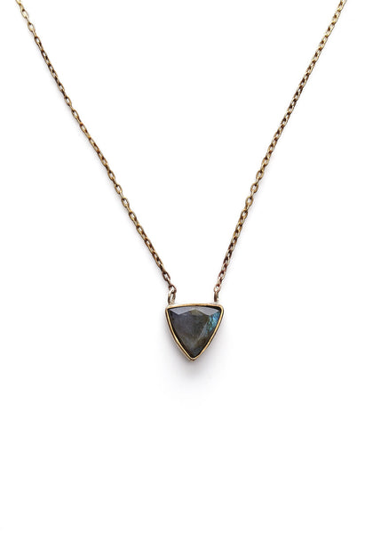 Emilie Shapiro Triangle Monarch Pendant Necklace - Estilo Boutique