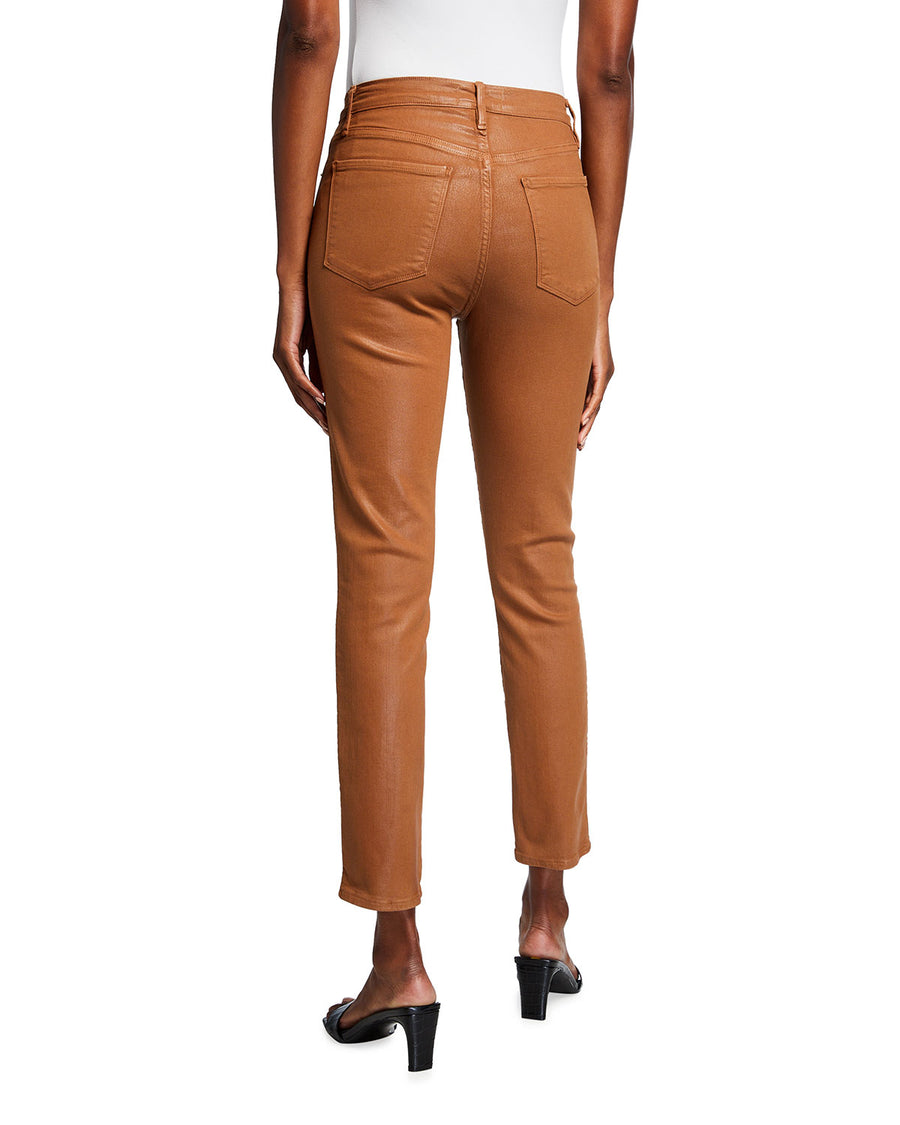 Frame Le Sylvie Coated Jeans in Tobacco