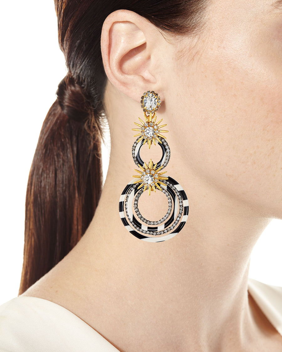 Elizabeth Cole Sarah Double Loop Earrings
