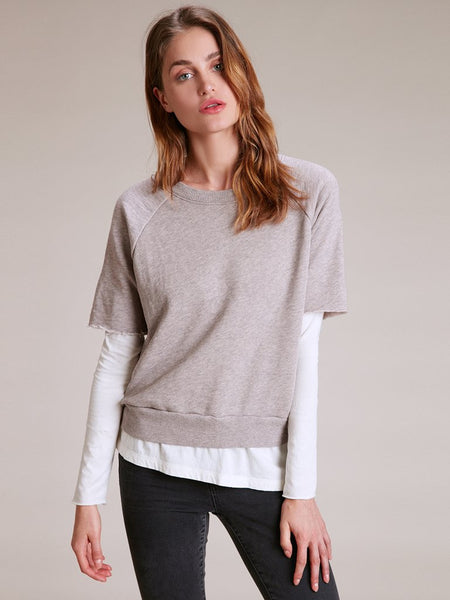 Nation Westlake Layered Sweatshirt in Blush