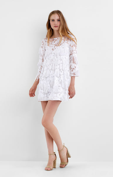 Nicole Miller Raining Flowers Empire Dress