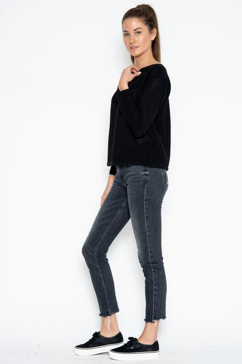 One Grey Day Kaia Sweater in Black