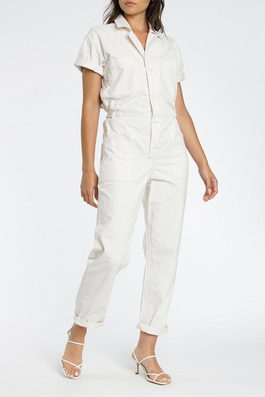 Pistola Grover Jumpsuit in Antique White