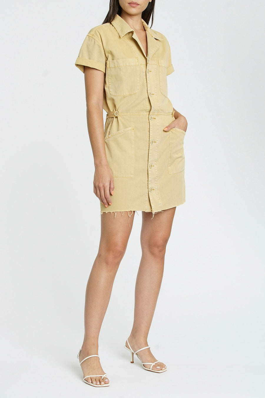 Pistola Clara Field Dress in Glazed Yellow