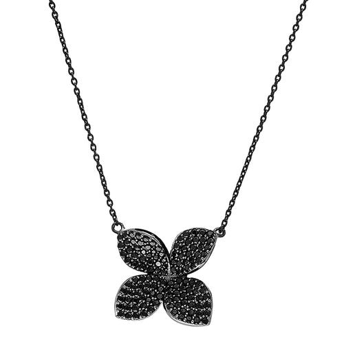 Jen Hansen Fiore Necklace in Black