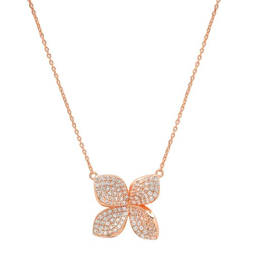Jen Hansen Fiore Necklace in Rose Gold