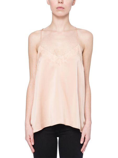 Cami NYC Racer Charmeuse Top in Blush