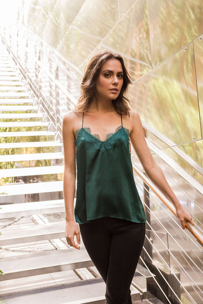 Cami NYC Racer Charmeuse in Emerald
