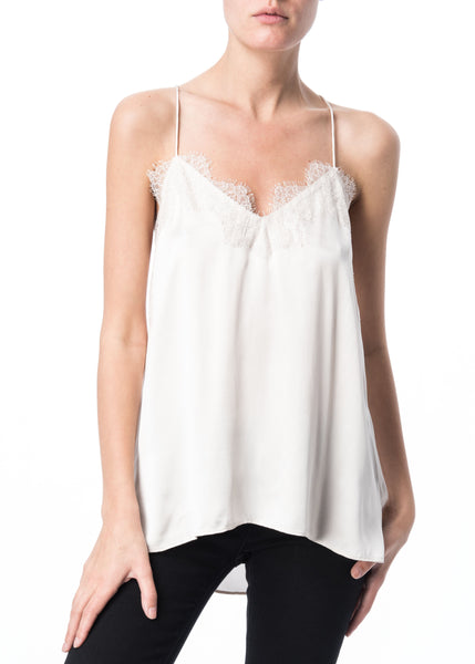 Cami NYC Racer Charmeuse in Pearl