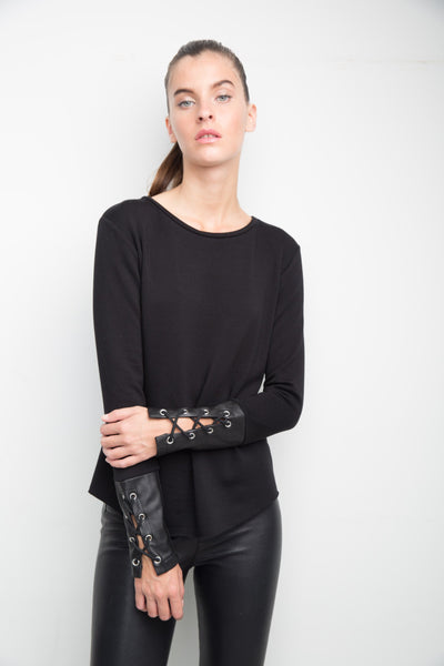 Generation Love Randy Leather Sweater
