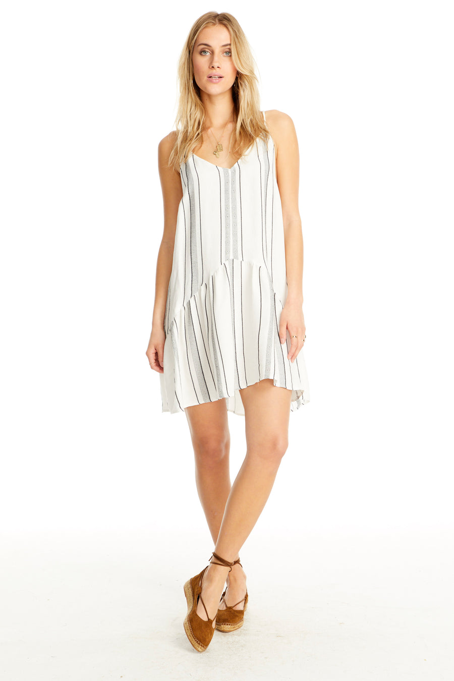 Saltwater Luxe Mini Dress with Ruffle