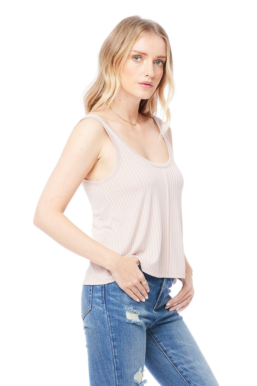 Saltwater Luxe Scoop Neck Tank in Petal