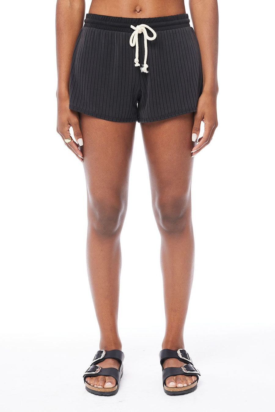 Saltwater Luxe Lounge Shorts in Black