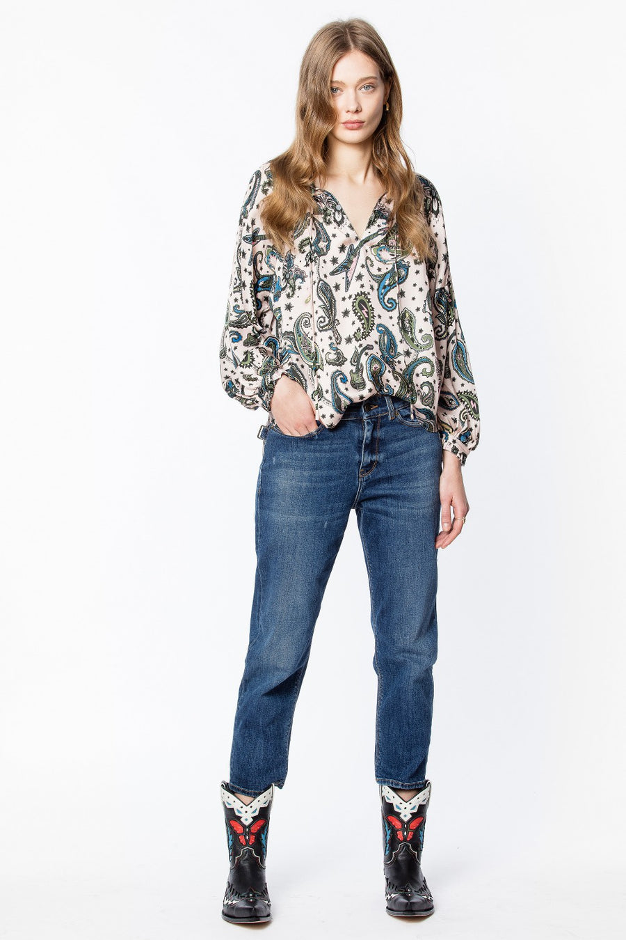 Zadig & Voltaire Theresa Paisley Top