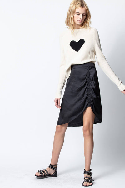 Zadig & Voltaire Jiij Satin Skirt in Black