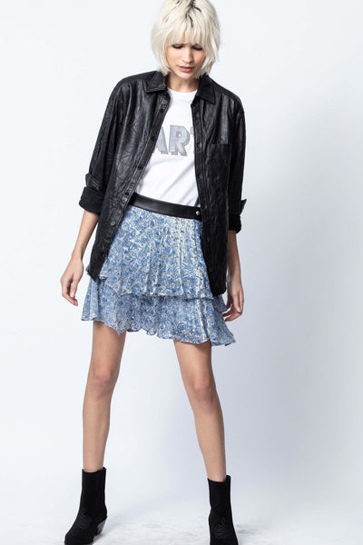 Zadig & Voltaire Jim Burnout Velvet Skirt