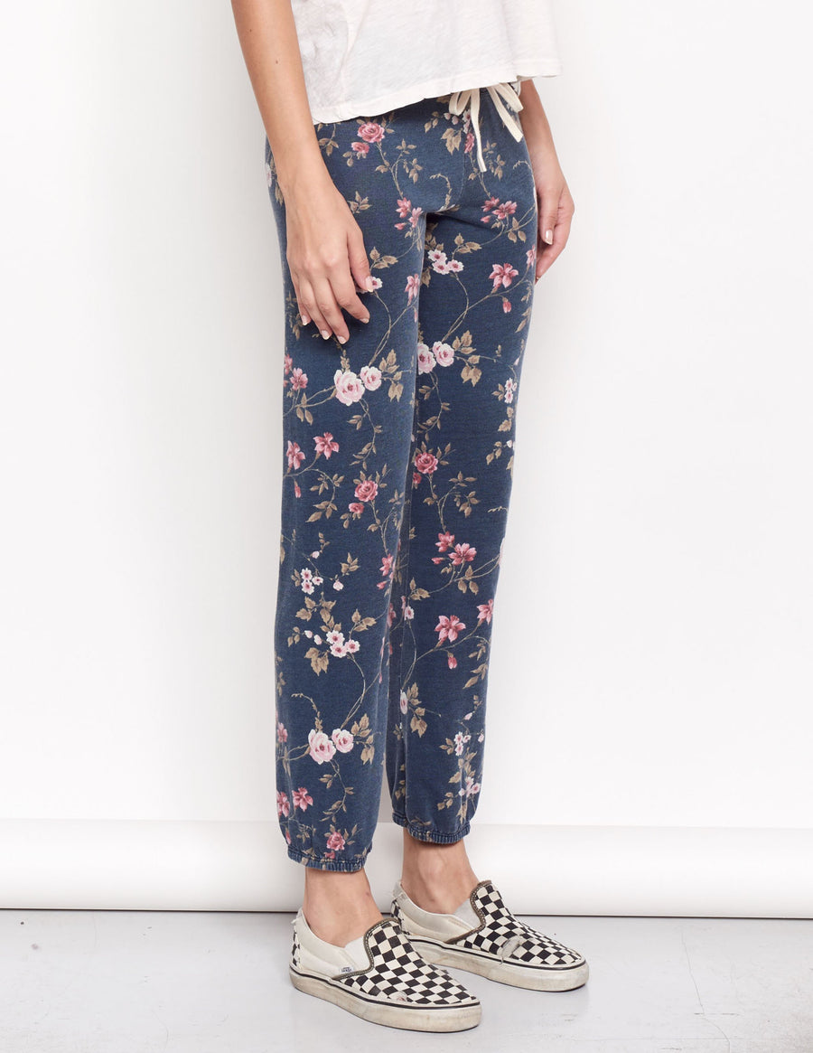 Sundry Floral Sweatpants in Navy