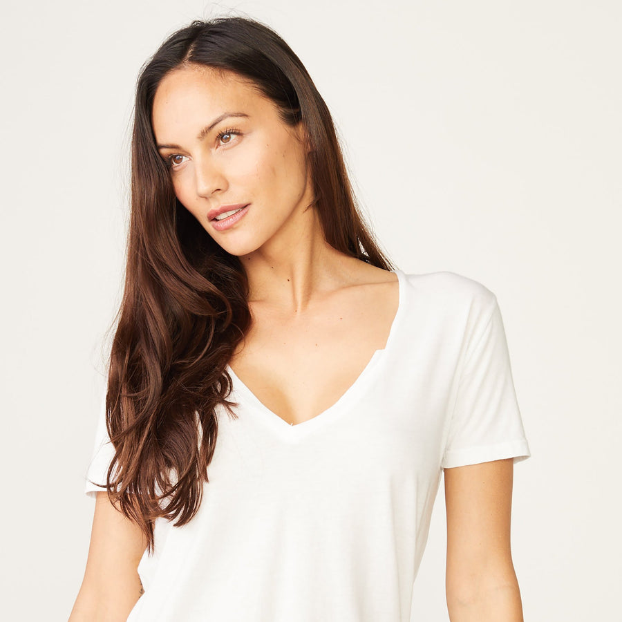 Monrow Relaxed V Neck