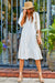 Amanda Uprichard Saffron Midi Dress in White