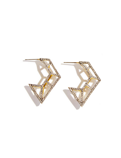 Sarah Magid Caged Pave Hoop