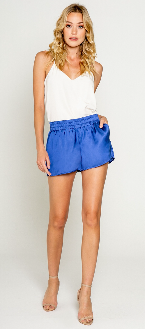 Lavender Brown Silk Shorts